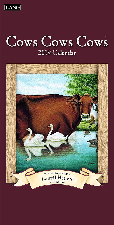 The LANG Companies Cows Cows Cows 2019 Vertical Wall Calendar (19991079129)