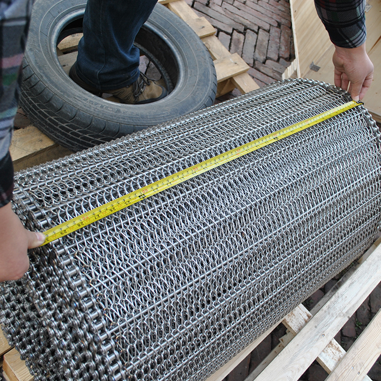 High quality 304 stainless steel wire mesh frozen conveyor belt