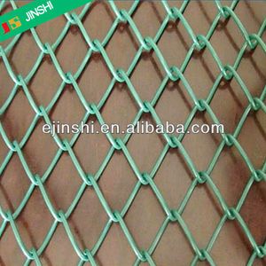 2'' pvc coated Chain Link mesh Fence/Diamond wire mesh for road