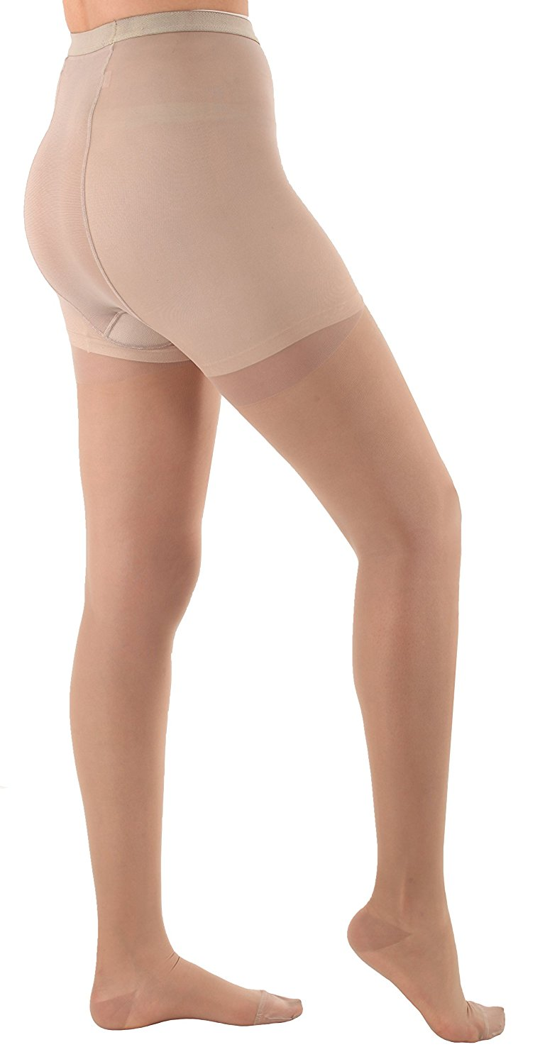 64b9a1aac Get Quotations · Sheer Compression Firm Support Pantyhose 20-30mmHg - Nude