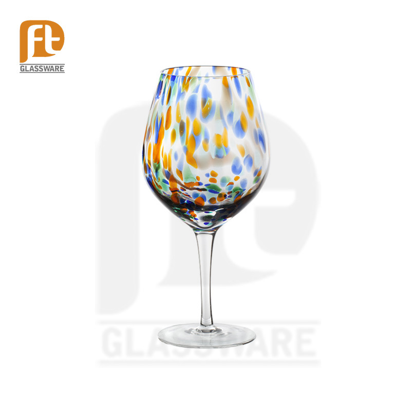 customize design red coloured wine glasses beautiful glassware