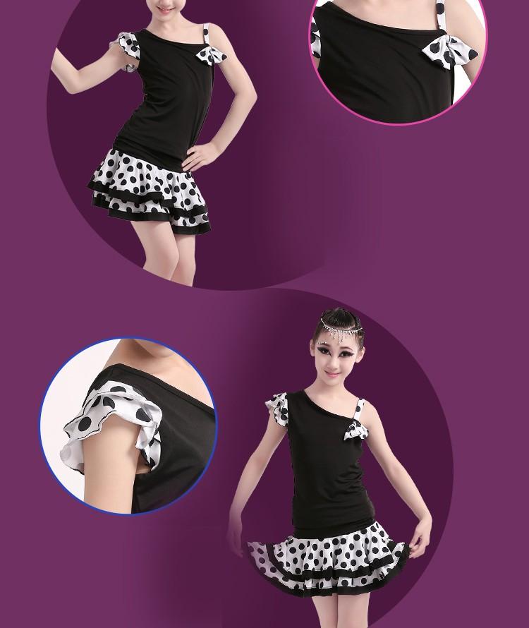Niños Traje De Lunares Niñas Desigual Vestido De Baile Latino - Buy ...