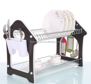 Chrome Silver Wall Kitchen Plate Rack For 21 Plates Wl243h