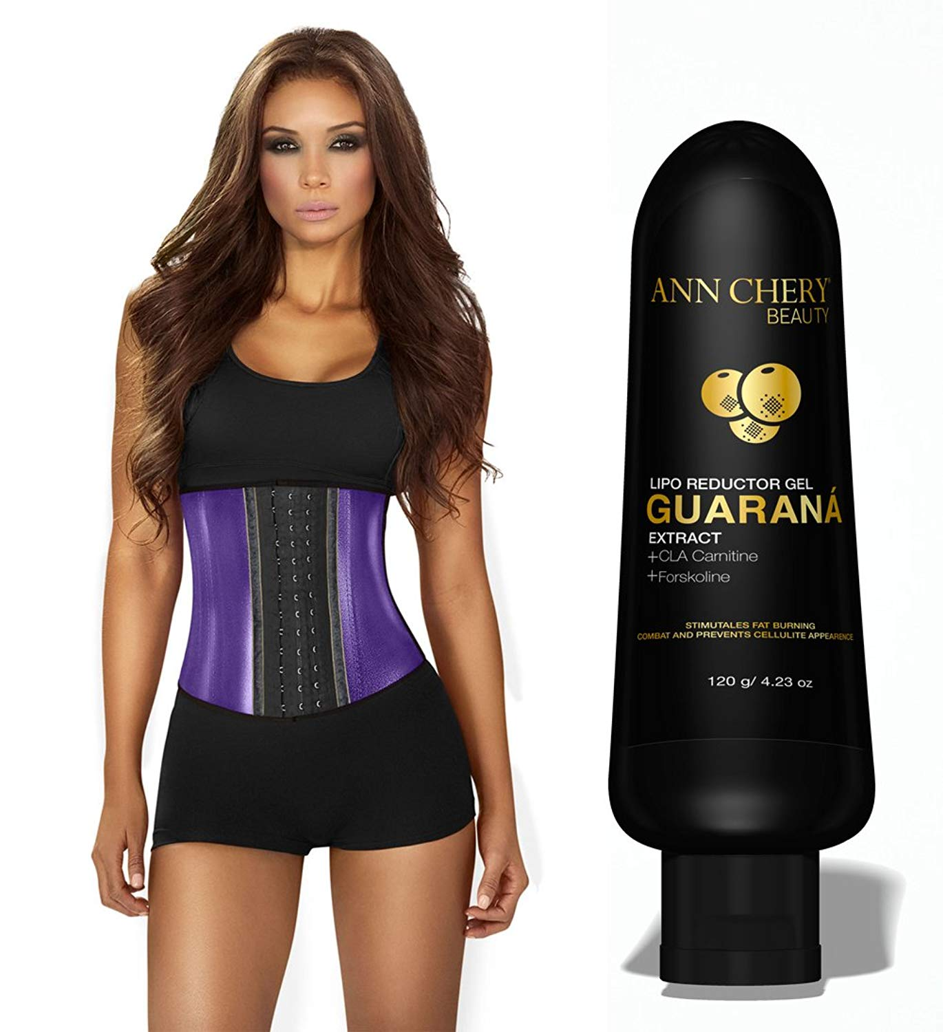 f22c55e098 Ann Chery 2045 Metallic Edition 3 Hooks Women Latex with Guarana Slimming  Gel. Waist Trainer