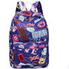Blue canvas school backpack bag for college girls