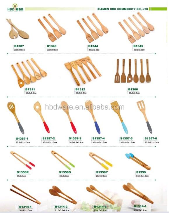 Alat Dapur Kayu Bambu Memasak Pribadi Peralatan
