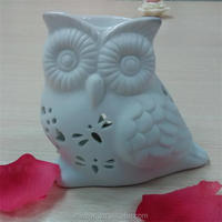 wholesale decorative owl shaped ceramic teapot aroma fragrance oil burner