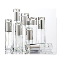 30Ml 50Ml 100Ml 150Ml Frosted Clear Glass Oil Cosmetic Dropper Bottle With Foam Spray Pump