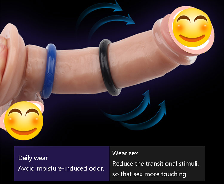 Wholesale delay lasting sex products silicone flexible triple soft penis ring