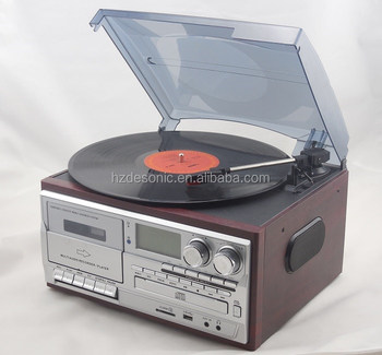 Retro Radio Cd Turntable Player Vintage Vinyl Records Lp Player With Dust  Cover - Buy Vinyl Records Lp,Vintage Vinyl Records Lp Player,Retro Radio Cd