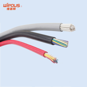 Wipous factory customized green ground wire pictures PVC flexible cable