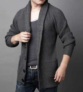 Autumn men's turtle neck turn-up collar sweater men woolen long sleeve cashmere turtleneck knitted plain cardigan