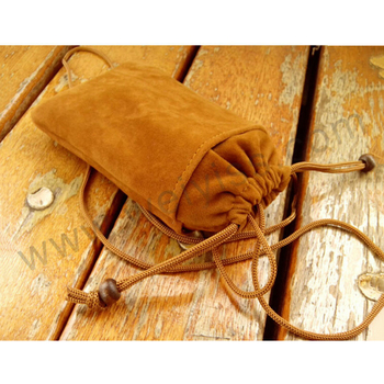 "5""X8"" Brown Velvet Dice Bag without Satin Lining for Design"