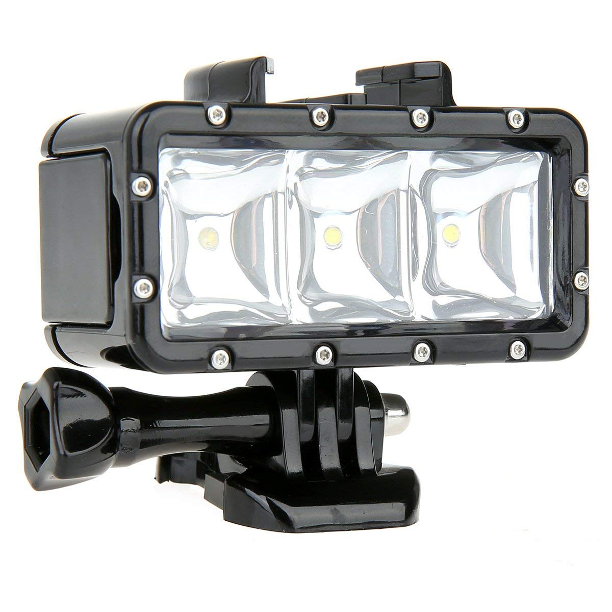 Garyesh Waterproof 30m Diving Light High Power Dimmable LED Underwater Fill Light for GoPro All Sports Cameras with 1000mAh Built-in Rechargeable Battery