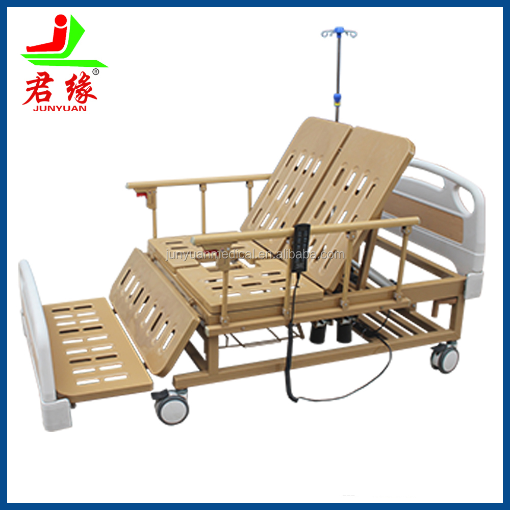 cheap medical furniture electric home nursing bed with toilet rotating nursing hospital bed