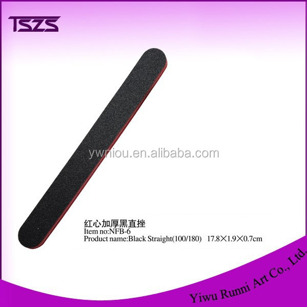 NFB-6 wholesale black straight upset standing DOUBLE sides nail file