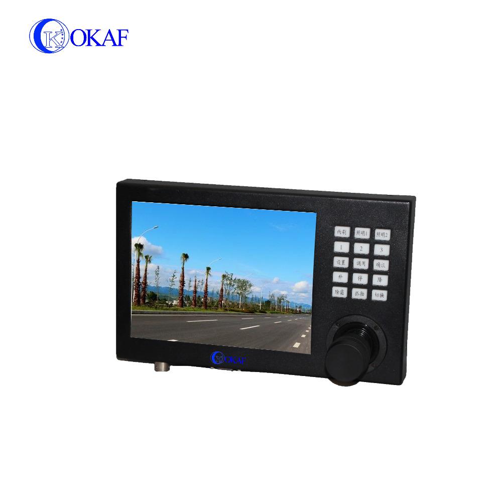 Rs 485 4:3 LED display panel PTZ keyboard monitor controller ptz keyboard controller black