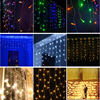Outdoor Waterproof 3*3M 110V LED Fairy Starry Christmas Xmas Window Icicle Curtain Light For Party Festival Wedding Decoration
