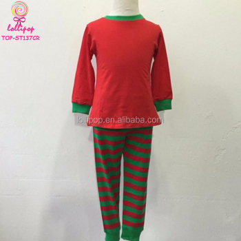baby girls boys christmas pajamas set kids red green striped cotton pjs children 2pcs clothing set