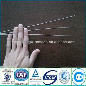 galvanized straight cutting wire/steel florist wire in bundle and in carton