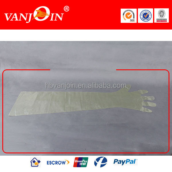 Plastic Disposable Veterinary Gloves Artificial Insemination Gloves