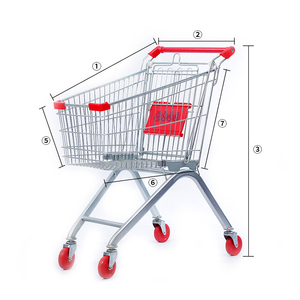 125L manufacturer supply Europe supermarket carts shopping trolley