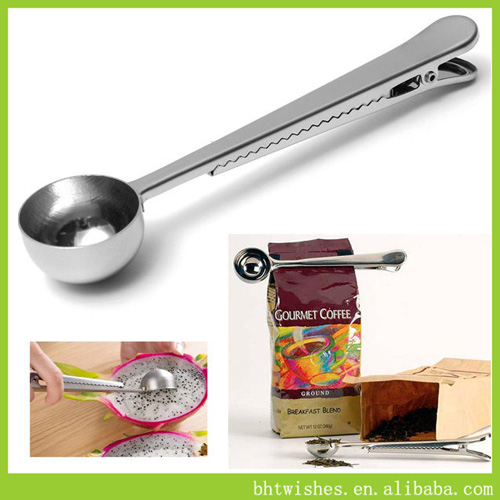 Coffee Spoon With Clip, Tea Measuring Scoop