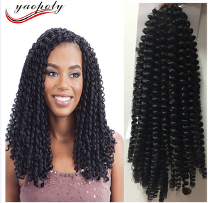 30strands/pack 8 inch afro hair nubian kinky nubian twist braid hair Synthetic Spring Twist Crochet Braid Hair