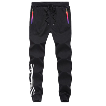 Men's Trousers Sweat Jogger Pants Custom Logo Hip Hop Black Mens Casual Pants