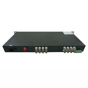 16ch HD-CVI/TVI/AHD 720P video fiber optical converter RS485 Data FC 20km Transmitter and Receiver