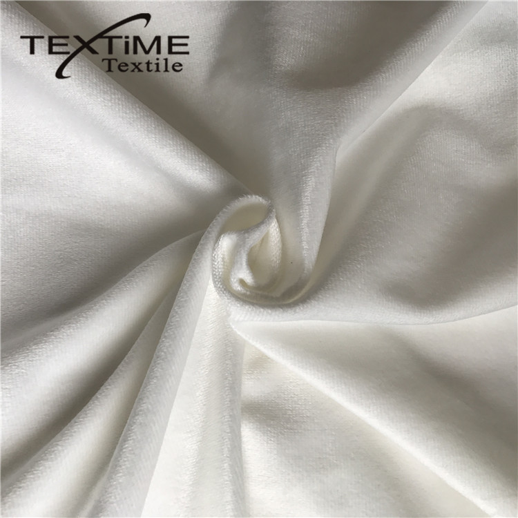Attractive Design Super Soft Korean Tricot Brushed Knitted Fabric Velvet Cloth Per Meter