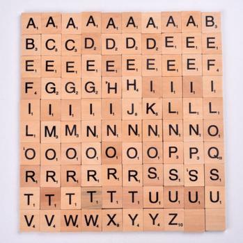 Wooden Scrabble Tiles Letter Alphabet Scrabbles Number Crafts English Words