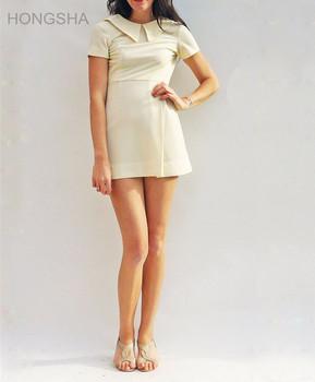 De Algodón De Ropa De Tenis Crema Polo De Tenis Mini Camiseta Vestido Para Las Mujeres Hsd2301 Buy Vestidos De Polo Para Mujerropa De Tenis De