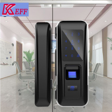 Fingerprint scanner Optical sensor smart card remote glass door lock for outdoor