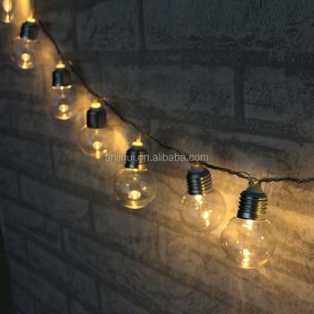 Indoor Led Bulb Fairy String Lights 30 Ball 230v Ed Outdoor Globe For Garden