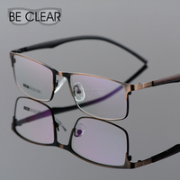 Alloy Latest Branded Spectacle Frames Plain Clear Half Rim Eye Glasses Men Male Eyeglasses Frame Cheap Prescription Eyeglasses