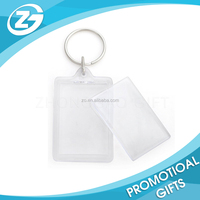 Personalized LOGO Promotional Rectangle Clear Create Your Own Business Card Printed Custom Plastic Blank Acrylic Keychain