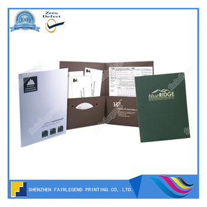 Shenzhen Offset Folder Printer Tax and Accounting Presentation Folders Printing
