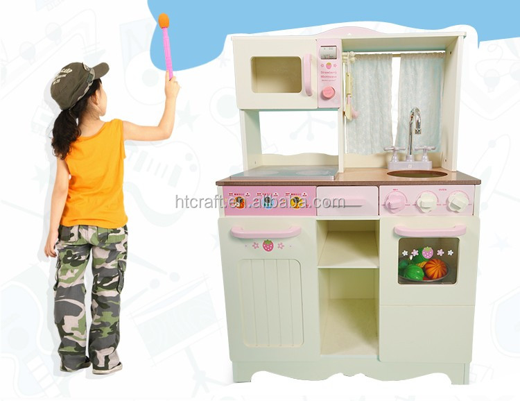 Houten Keuken Speelgoed : Wit houten keuken speelgoed met kast opslag oven en sink hot koop