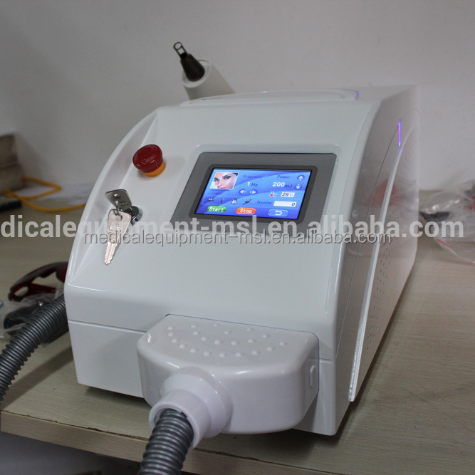MSLYL06 Durable use Dermal pigmentation tattoo removal/nd yag laser machine