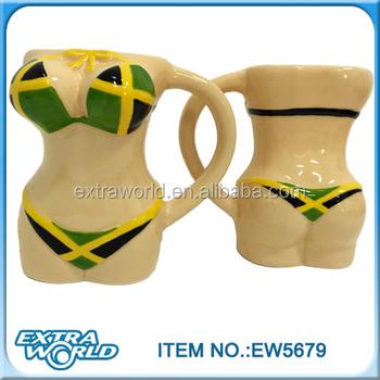 25bb972c16 Jamaica Flag Customized Ceramic Sexy Bikini Mug - Buy Jamaica ...