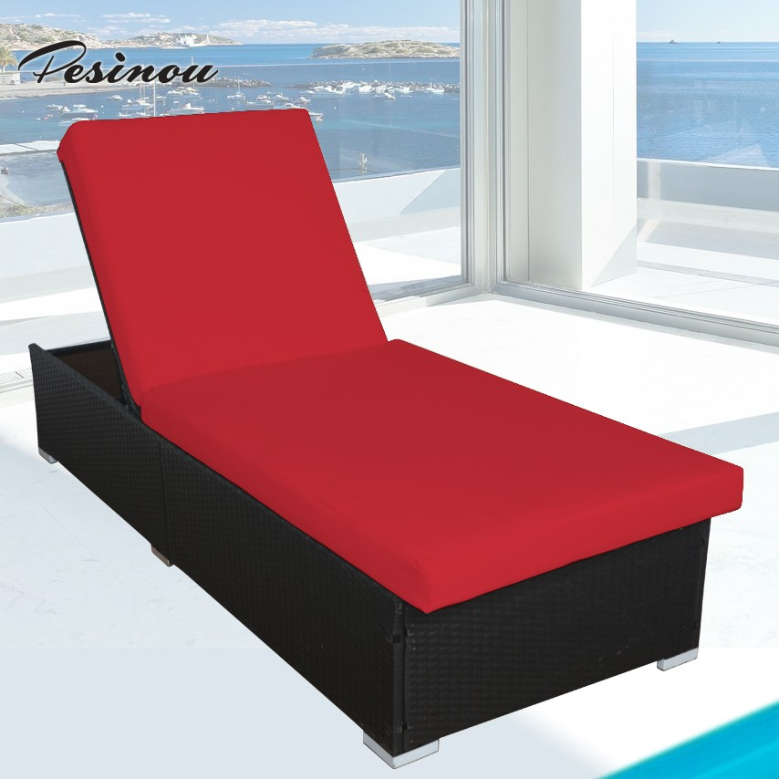 new deluxe outdoor sun lounger and luxury hotel rattan sun lounger for wholesale