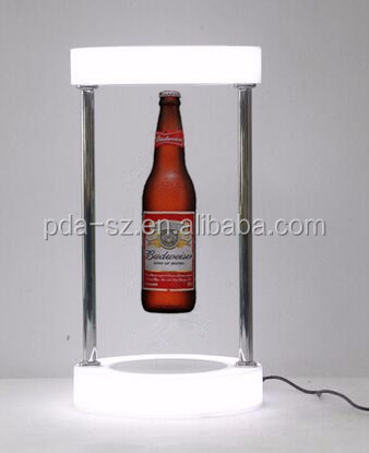 Antigravity Floating Platform pop beer bottle ,maglev budweiser display racks