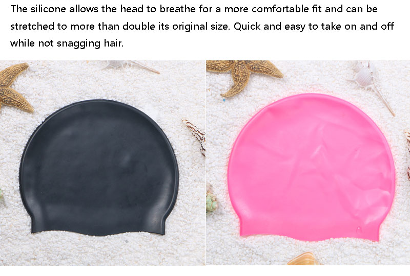 Chinese bath shower breathplay long hair flat adult funny silicone swim cap