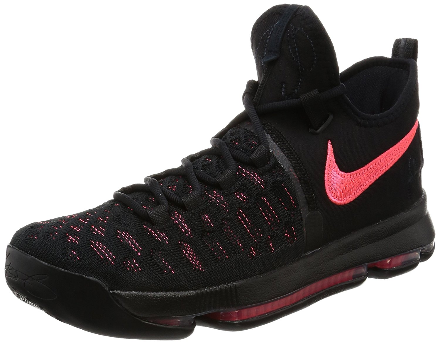 huge selection of 31d7a 199f6 Get Quotations · Nike Men s Zoom KD9 PRM EP, BLACK HOT PUNCH