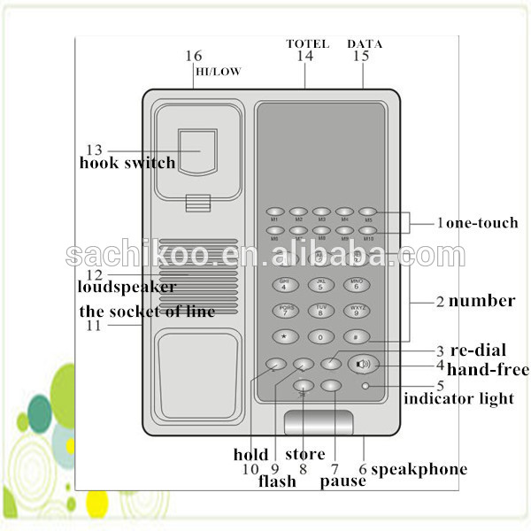 Weatherproof Unique Telephone Hotel Room Telephones Basic