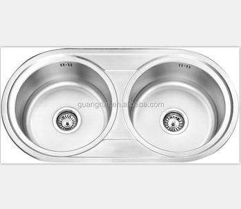 Rv,Yacht,Boot,Zug Und Öffentlichen Mobile Toilette Verwendet Edelstahl  Doppelbecken Runden Form Waschbecken Küche Waschbecken Gr-y605 - Buy Yacht  ...