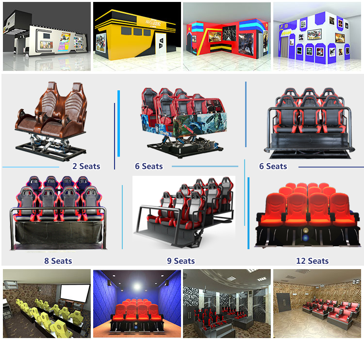 Crazy 5D Cinema Theme Park 5D Theater Equipment By Canton Fair