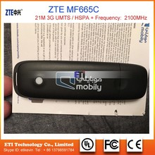Originale ZTE MF665C USB <span class=keywords><strong>dongle</strong></span> 3G scheda dati modem USB 21 M hspa 2100 MHz scheda di Rete