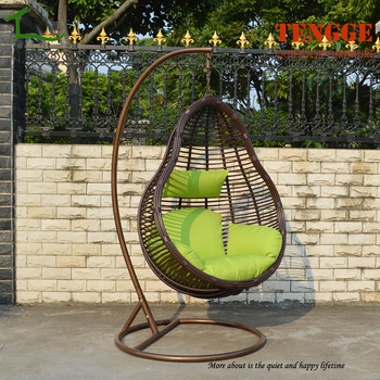TG 16005 New Season Wide Round Rattan Swing Chair Hanging Basket Chair